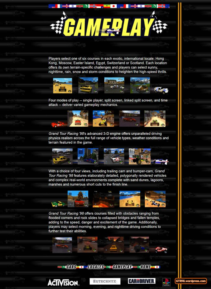 GTR98 Official Site 1997 - Gameplay
