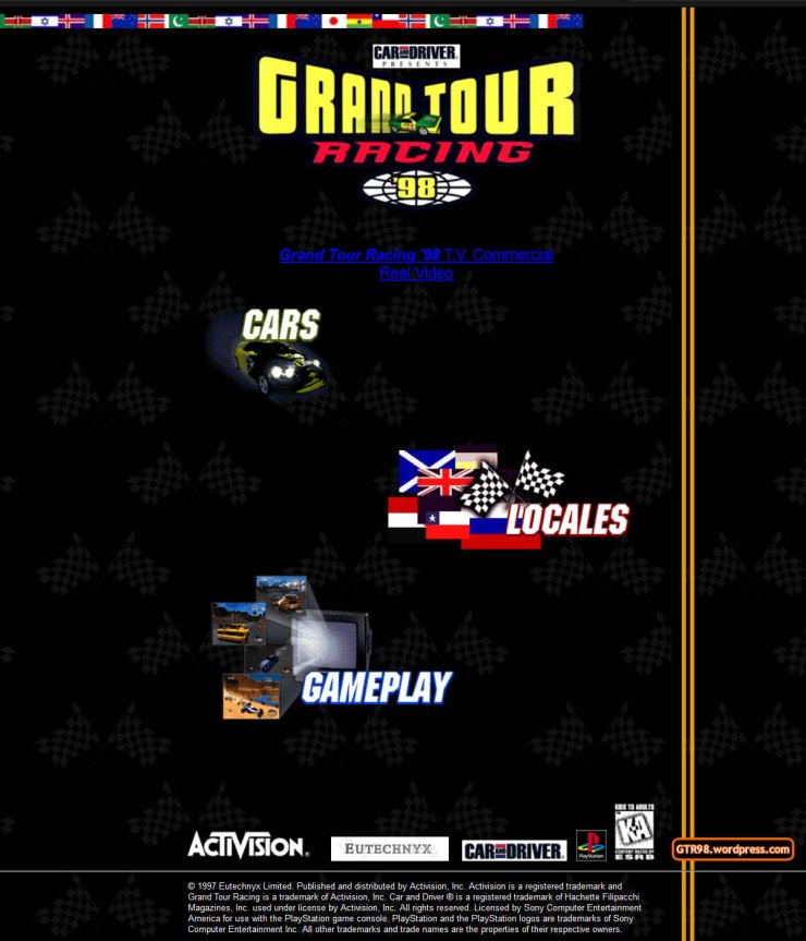 GTR98 Official Site 1997 - Front Page